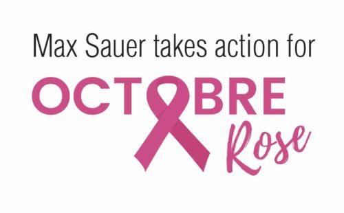Max Sauer takes action forOctobre Rose